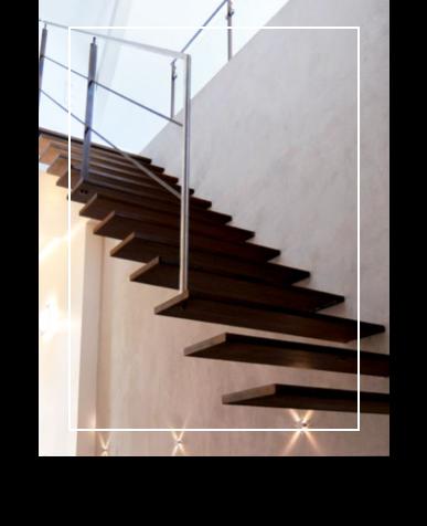 Book photos de l'entreprise Schaffner regroupant des exemples d'ouvrages d'escaliers à consoles murales